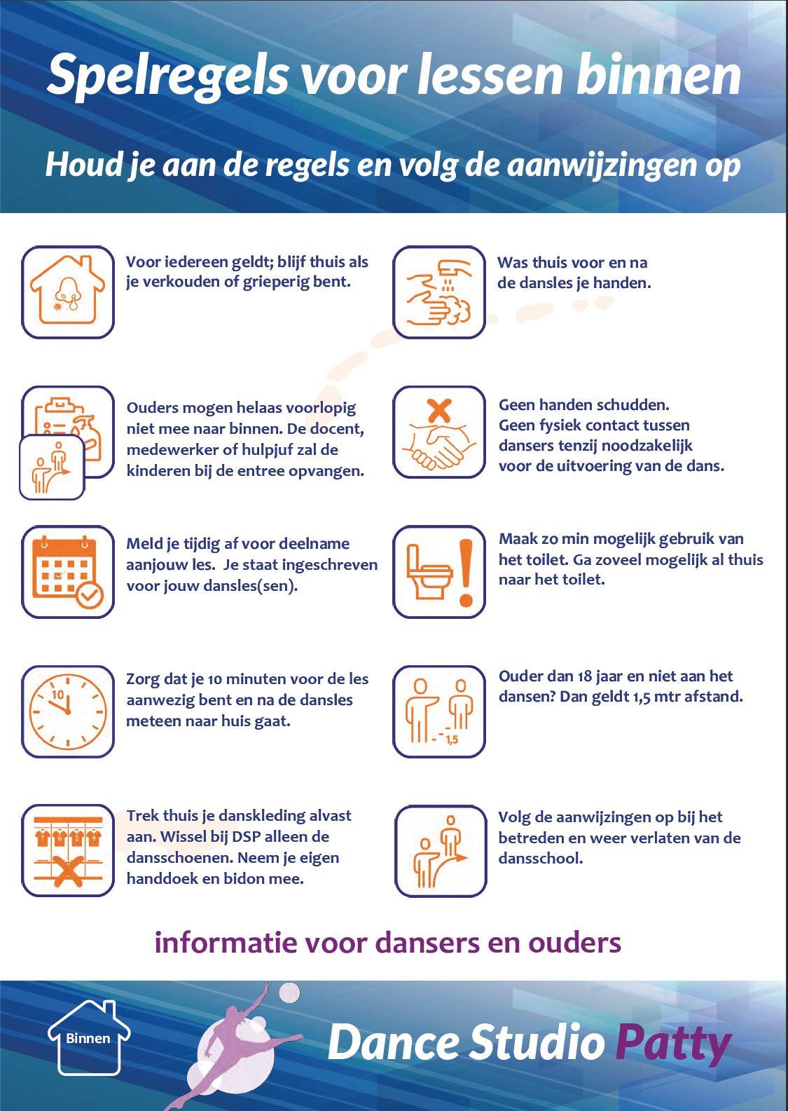 DSP poster regels voor binnen